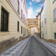 Prague. Old architecture, charming street — Stock Photo #3785695