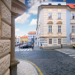 Stock Photo: Prague. Old architecture, charming street