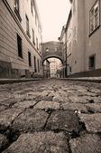 прага. старый, обаятельная улица — Стоковое фото