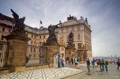 Prague's castle entrance — Stock Photo