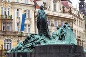 Jan Hus Memorial in Prague — Stock Photo