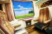 Travel in comfortable train. — Stock Photo