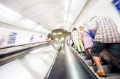 Subway stairs. Motion — Stock Photo