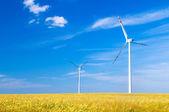 风力涡轮机景观 — 图库照片