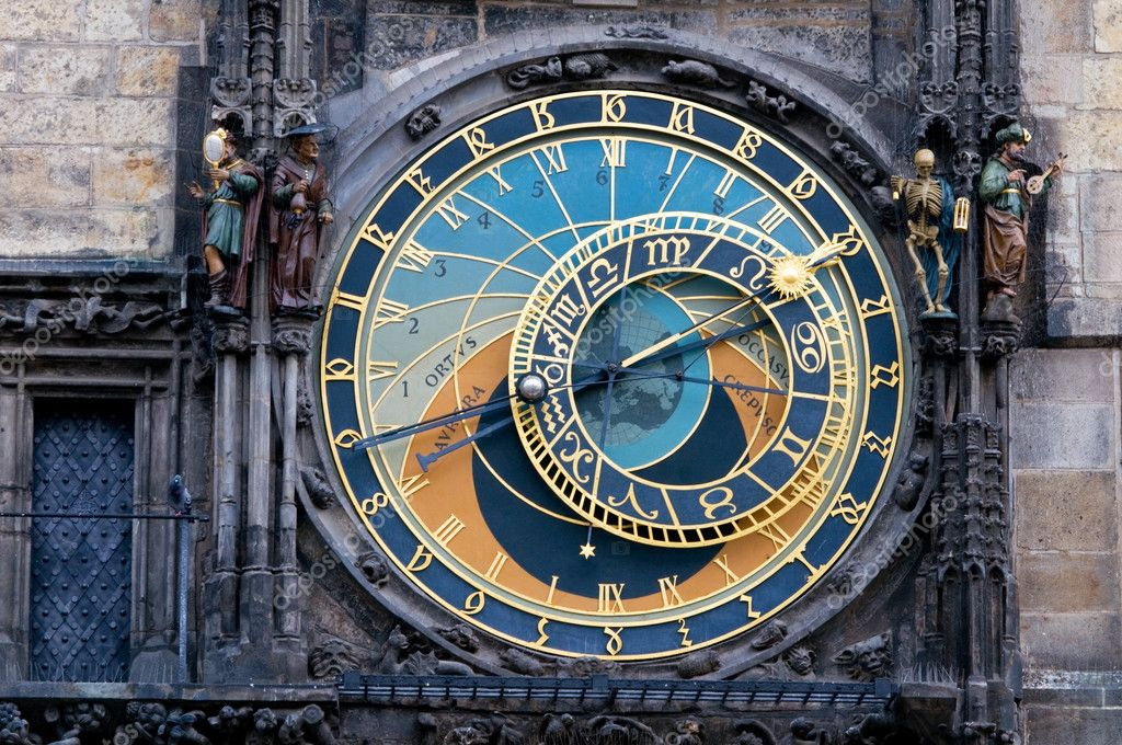 Prague. The Astronomical Clock or Prague Orloj  Stock Photo #3785360