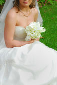 Charming wedding bouquet from kalls — Stock Photo