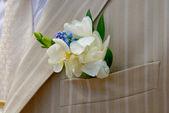 Bridegroom boutonniere — Stock Photo