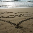 Foto Stock: Heart beach