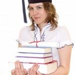 Studenten mit Abschluss Diplom — Stockfoto