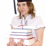 Student with graduation diploma — Stock Photo