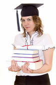 Student with graduation diploma — Stock Photo