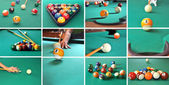 Billiard game concept — Stock Photo