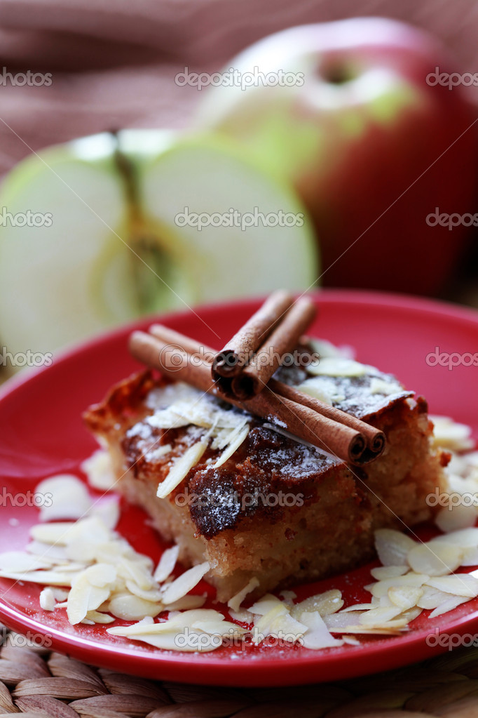 Plate of delicious apple pie - sweet food  Stock Photo #2767354