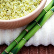 Royalty-Free Stock Photo: Green bamboo bath salt