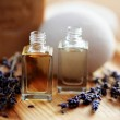 Lavender aromatherapy oil — Stock Photo