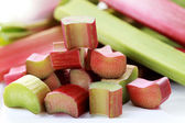 Fresh rhubarb — Stock Photo