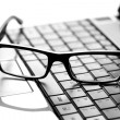 Glasses on laptop — Foto de Stock