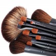 Make-up brushes - 图库照片