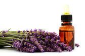 Lavender essential oil — Stock Photo