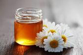 Herbal honey — Stock Photo