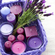 Stock Photo: Basket with candles