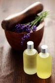Lavender massage oil — Stock Photo