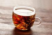 Szkło białe herbaty — Zdjęcie stockowe