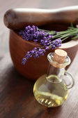 Lavender massage oil — Stock Photo