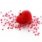Red heart ball — Stock Photo