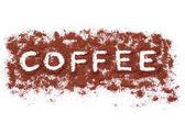 Coffee caption — Stock Photo