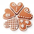 Gingerbread hearts — Stock Photo