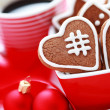 Coffe with gingerbreads — Stok fotoğraf
