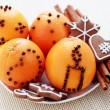 Oranges and gingerbreads — Stock Photo