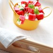 Watermelon and feta salad — Stock Photo