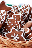 Basket of gingerbreads — Stock Photo