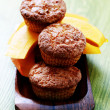 Pumpkin muffins - Stock Photo