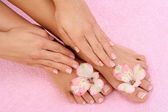 Manicure and pedicure — 图库照片