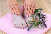 Foot care — Stock Photo