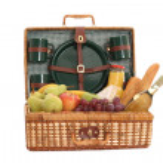 Picnic basket — Stock Photo #4457459
