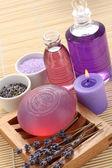 Aromatic lavender bath — Stock Photo