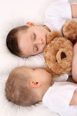 Sleeping children — Stock Photo