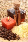 Coffee and cinnamon bath — Stock Photo