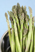 Pot of asparagus — Stock Photo