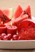 Watermelon bath — Stock Photo
