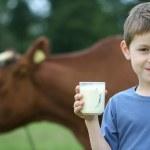 Drinking milk — Stock Photo