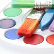 Watercolour paints — Stock Photo #4487002