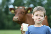 Drinking milk — Stock Photo