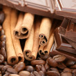 Chocolate coffee and cinnamon — Stock Photo #4494758