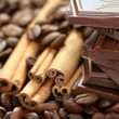 Chocolate coffee and cinnamon — Stock Photo