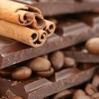 Stock Photo: Chocolate coffee and cinnamon